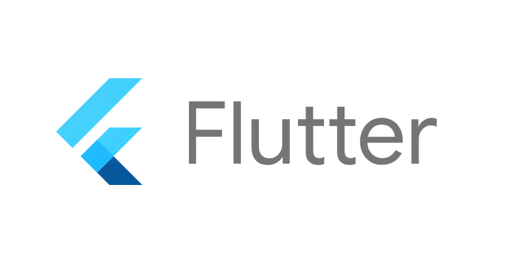 Flutter logo. Android and iOS Mobile App Development